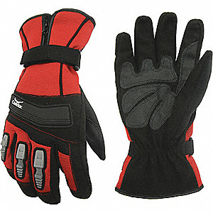COLD PROTECTION GLOVES,ZIPPER,RD,BL