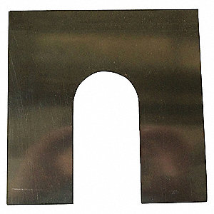 SLOTTED SHIM,6X6 INX0.005IN,PK20