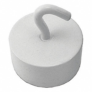 MAGNETIC HOOK,NEODYMIUM,WHITE,61 LB