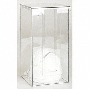 RESPIRATOR DISPENSER,CLEAR,ACRYLIC