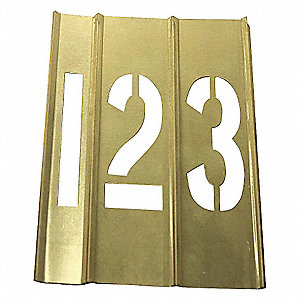 BRASS STENCILS,15 PIECE NUMBER,6 IN