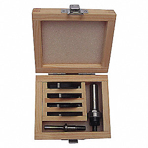 ROUTER BIT SET,SLOT CUTTER,1/4S,6 P