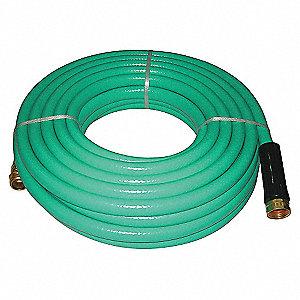 WATER HOSE,RNFRCD PVC,5/8 IN ID,50