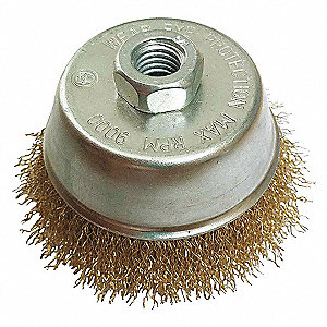 CUP BRUSH,2-3/4DIA,WIRE 0.02LN