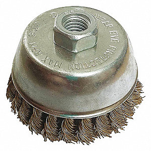 CUP BRUSH,2-3/4DIA,WIRE 0.014LN,RPM
