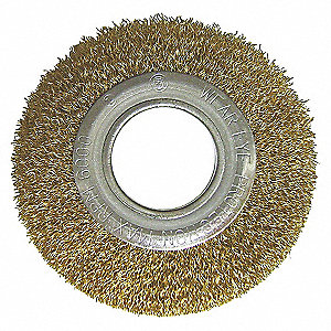 CRIMPED WIRE BRUSH,8DIA,WIRE 0.008L