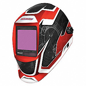 WELDING HELMET,SHADE 6-9/9-13,RED/B