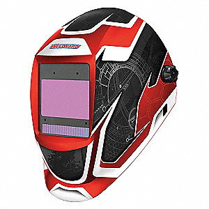 WELDING HELMET, SHADE 5-8/8-13,RED/