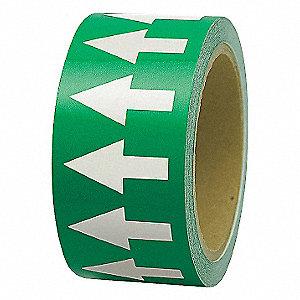 ARROW TAPE,WHITE/GREEN,4 IN. W