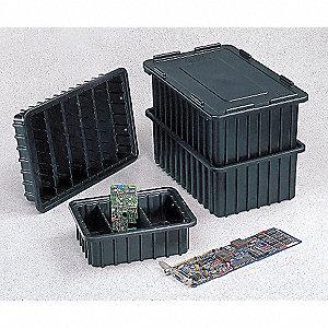 CONDUCTIVE DIVIDER BOX,BLACK,16-1/2
