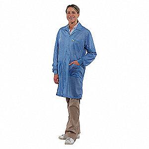 LAB COAT WITH CUFF,2XL,BLUE
