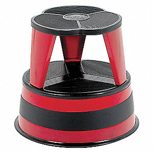 STEP STOOL,RED,14-1/2IN H