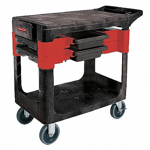 Carro Industrial, Capacidad de Carga de 330 lb., Negro