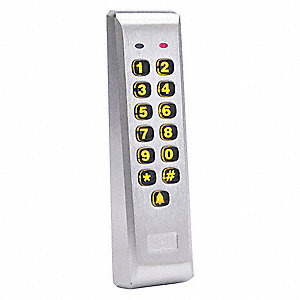 "Access Keypad Mullion,  Indoor/Outdoor Mullion Mount Weather Resistant Keypad,  6-1/2"" Height"