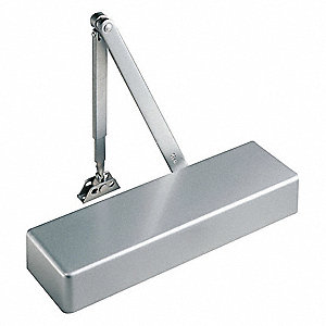 Manual Hydraulic Yale 4400-Series Door Closer, Heavy Duty Interior and Exterior, Silver