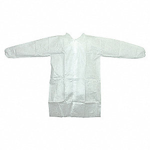 LABCOAT PP NONWOVEN WHITE XL 25/CA