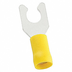 LOCKING FORK TERMINAL,#6,YELLOW,PK50