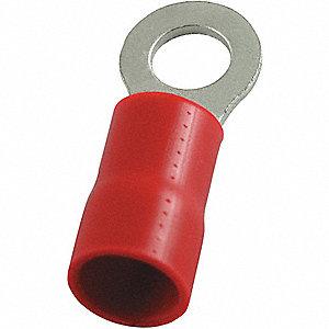 RING TERMINAL,RED,BRAZED,8 AWG,PK25