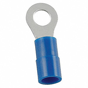 RING TERMINAL,BLUE,BUTTED,16 TO 14,