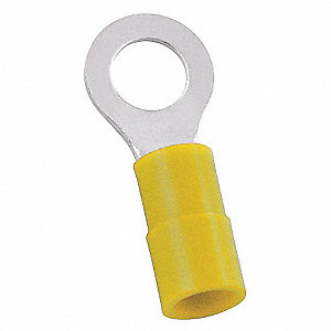 RING TERMINAL,YELLOW,BUTTED12-10,PK