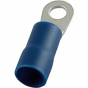 RING TERMINAL,BLUE,BRAZED,6 AWG,PK2
