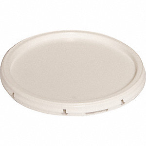 PLASTIC PAIL LID,SNAP,WHITE,FOR 34A