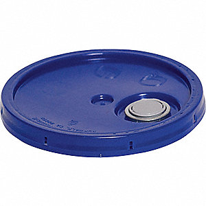 PLASTIC PAIL LID,BLUE,FOR 34A218,34