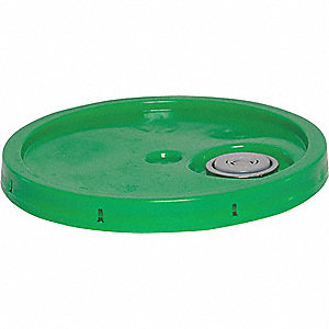 PLASTIC PAIL LID,GREEN,FOR 34A221,3