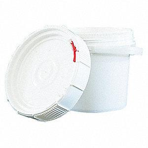PLASTIC PAIL,ROUND,WHITE,CAP 3.5 GA