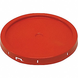 PLASTIC PAIL LID,TEAR TAB,RED,FOR 3