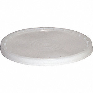 PLASTIC PAIL LID,SNAP,ROUND,NATURAL