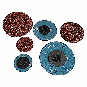 CLOTH DISC,3 IN D,100 GRIT,PK25