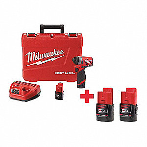 "1/4"" Cordless Impact Driver Kit, 12.0 Voltage, 1300 in.-lb. Max. Torque, Battery Included"