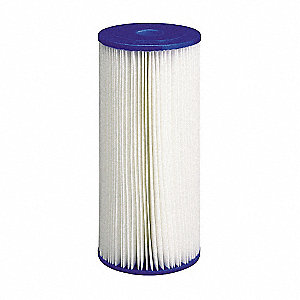 "50 Micron Rating Filter Cartridge, 4-1/2"" Diameter, 9-3/4"" Height, 10.00 gpm"