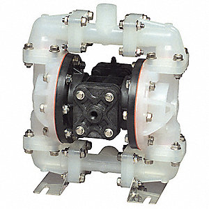 PVDF Santoprene® Multiport Double Diaphragm Pump, 14 gpm, 100 psi