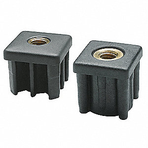 Tube End Caps,1344 lb.,Black