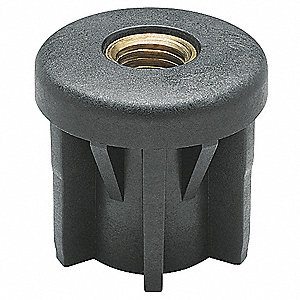 "Round Tube End to Metric, Tube Wall Size 0.079"", Thread Size 27/49, Load Capacity 1120 lb."