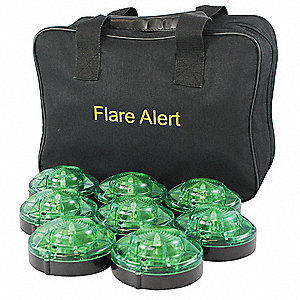 LED Road Flare Kit,1 Watt,Green