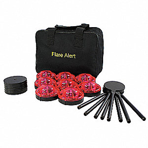 LED Road Flare Kit,1 Watt,Red