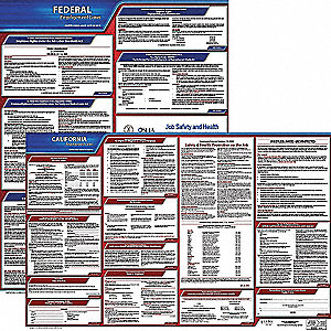 Labor Law Poster Kit, CA Federal and State Labor Law, English