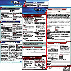 Labor Law Poster Kit,IL,English,19 In. W