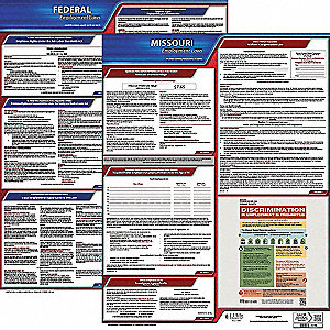 Labor Law Poster Kit, MO Federal and State Labor Law, English, None