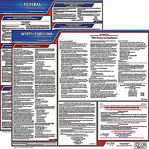 Labor Law Poster Kit, NC Federal and State Labor Law, English, None