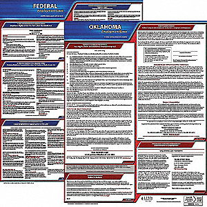 Labor Law Poster Kit, OK Federal and State Labor Law, English, None