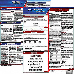 LaborLaw Poster,Fed/STA,SD,ENG,20inH,1yr