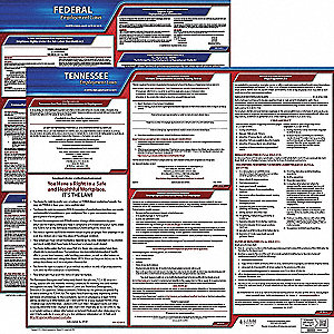Labor Law Poster Kit, TN Federal and State Labor Law, English, None