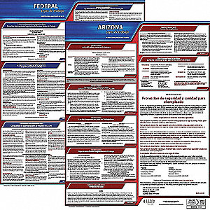 Labor Law Poster, AZ Federal and State Labor Law, Spanish, 3 yr.