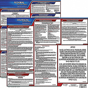 Labor Law Poster Kit, CO Federal and State Labor Law, Spanish
