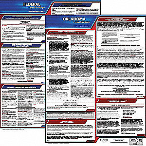Labor Law Poster, OK Federal and State Labor Law, Spanish, 3 yr.