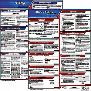 Labor Law Poster Kit, RI Federal and State Labor Law, Spanish, None